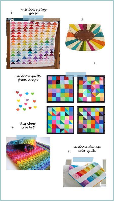 Rainbow collage a