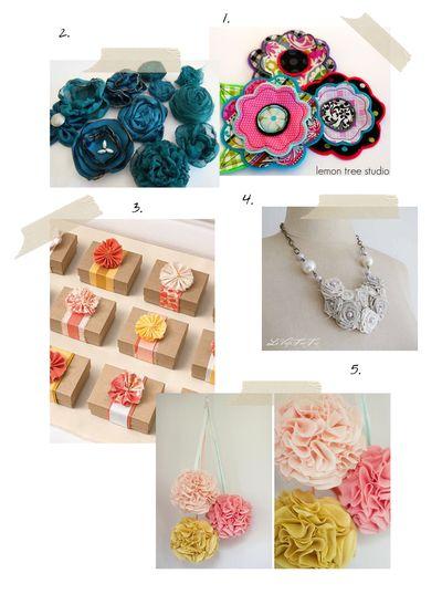 Fabric flowers 2