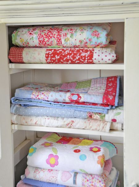 Colourful Linen Cupboard