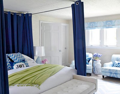 House beautiful blue accent bedroom