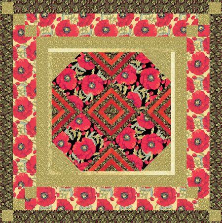 Scarlet quilt