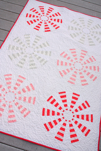 Peppermint Pinwheels quilt